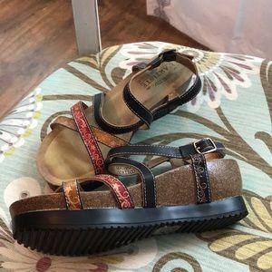 L'Artiste Wedge Sandals Shoes Woman's 37 7